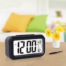 Barwick Clocks Amazon Com Digital Alarm Clock With Sensor Light Date