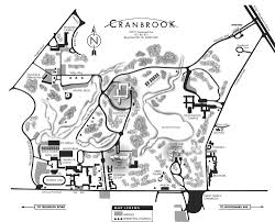 University Of Michigan Campus Map by Campus Map Cranbrook Academy Of Art