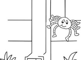 itsy bitsy spider coloring pages itsy bitsy spider coloring