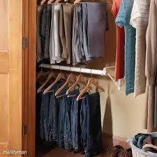 double rod closet storage