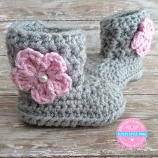baby girl crochet baby girl boots crochet baby girl booties gray baby booties
