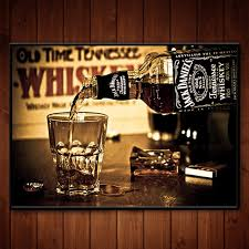 wall decor for home bar jack daniel old no 7 brand jennessee whiskey wall sticker 21 30 cm