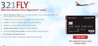 bank of america asiana visa signature review 30 000 mile bonus