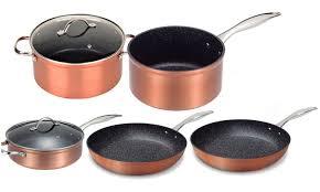 batterie de cuisine en cuivre batterie 7 pièces cuivre groupon shopping