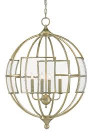 Glass Orb Chandelier Broxton Orb Chandelier Currey U0026 Company