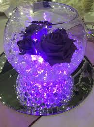 purple centerpieces fish bowl wedding centrepiece for purple themed weddings purple