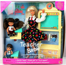 weboys10 barbie teacher set class room brunette students
