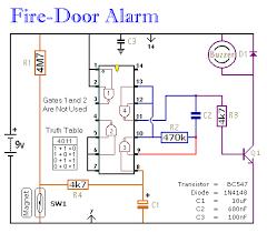 simple fire door alarm circuit