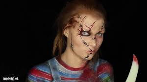 Chucky Makeup For Halloween by Chucky Makeup Tutorial Clothes Also Painted On Coub Gifs
