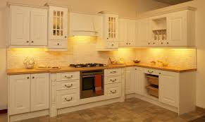 U Shaped Cream Wooden Kitchen Cabinet And Rectangle Kitchen Island - Images of kitchen cabinets design