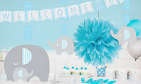 Blue Baby Shower Decorations Baby Shower Decorations For Boys Party City