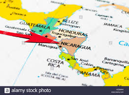 Map Of Middle America by Red Arrow Pointing Nicaragua On The Map Of South Central America
