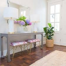 White Foyer Table Beautiful Traditional Entryway With A Gray Console White Walls