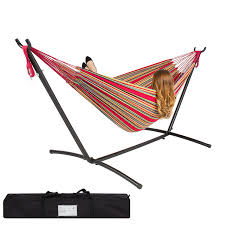 Hammock Frame Amazon Com Best Choiceproducts Double Hammock With Space Saving