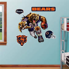 fathead chicago bears extreme logo real big mural chicago bears