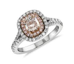 light pink engagement rings fancy light pink ring in platinum and 18k rose gold 1 23 ct