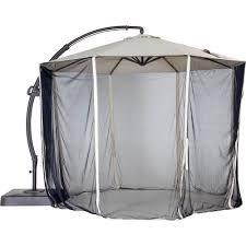 Cantilever Patio Umbrella Canada by Patio Umbrella With Attached Netting Patio Outdoor Decoration