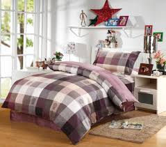 Twin Plaid Comforter Choosing Wholesale Classic Purple Plaid Comforter Bedding Set 100