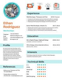 Resume Web Template Infographic Resume Templates Canva