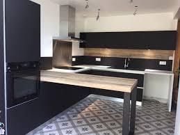 cuisine noir mat et bois best cuisine noir mat et bois contemporary matkin info matkin info