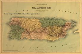 Puerto Rico On A Map by This Is A Large And Detailed Topographical Map Of The Island