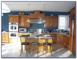 kitchen color schemes with light wood cabinets painting home
