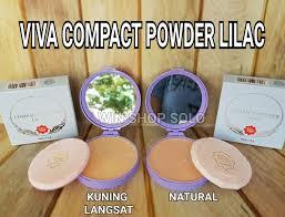 Bedak Viva dus biru viva compact powder lilac bedak padat wsp
