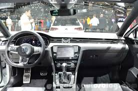 passat volkswagen 2016 vw passat dashboard at the 2016 geneva motor show indian autos blog