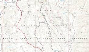 Grand Canyon On A Map Kaibab National Forest Maps U0026 Publications