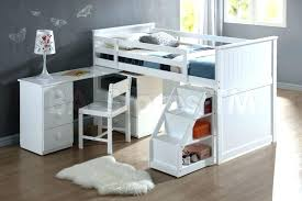 Loft Bunk Bed Desk Bunk Bed With Desk On Bottom And Combo Captivating White Beds