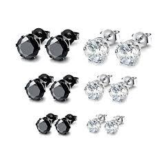 hypoallergenic earrings uk besjewel stud earrings set 3mm 5mm hypoallergenic surgical