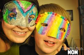 diy brazilian carnival masks for kids mama plus one