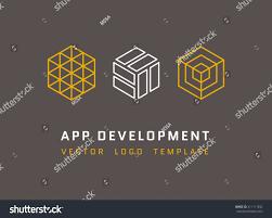 technology development architecture game studio logos stock vector