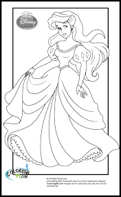 free printable disney princess coloring pages for kids inside