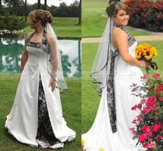 cheap plus size wedding dress discount new fashion 2017 plus size camo weding dresses white