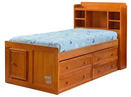 Twin Captains Bed With Bookcase Headboard Amazing Of Twin Headboard