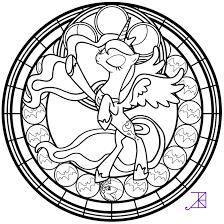 stained glass luna season 2 take 2 line art by akili amethyst