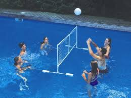 swimming pool volleyball net set u2014 home landscapings