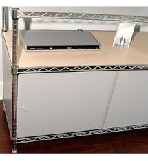 Wire Shelving Desk Wire Shelving Enclosures And Doors Gray In Shelf Liners And