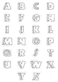 dessin ã colorier alphabet nature