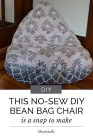 no sew diy bean bag chair is a snap to make