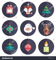 Happy New Year Decorations Vector by Merry Christmas Happy New Year Sticker Stock Vector 323691998