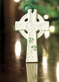 belleek st kieran s celtic cross ornament blarney