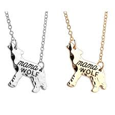 s day necklaces animal shape gold silver wolf women pendant necklace jewelry