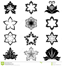 black and white flower design stock photo image 25809750