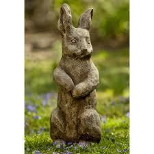 one ear up rabbit garden statue hayneedle