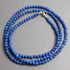 bead necklace clasp images Lapis lazuli necklace 3mm beads sterling silver clasp kathy bankston jpg