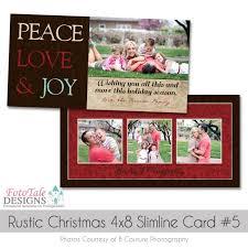 rustic christmas slimline 4x8 greeting card collection custom
