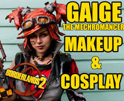 borderlands halloween costume borderlands 2 cosplay and cel shading makeup gaige the