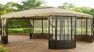 Pop Up Gazebos With Netting by Gazebo Mosquito Netting Youtube